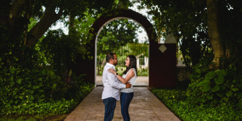 Alejandra y Wilson - Sesion casual en Hacienda San Diego Cutz
