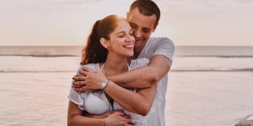 Daniela y Antoine - Sesión casual en las playas de Chuburna